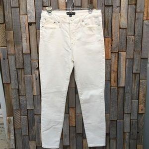 Woman's j crew winter white jeans denim size 29